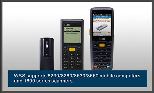 WSS supports 8230/8260/8630/8660 mobile computers and 1600 series scanners-Cipher Lab world leader in AIDC solutions