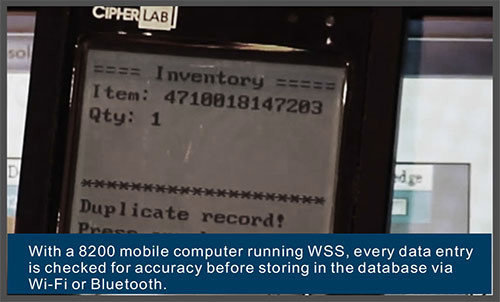 8200 mobile computer running WSS-Cipher Lab world leader in AIDC solutions